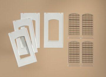Auhagen 80709 <br/>Wände 2342F geputzt, Industriefenster E 1