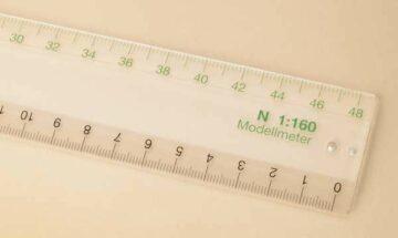 Auhagen 99006 <br/>Maßstabslineal N  1