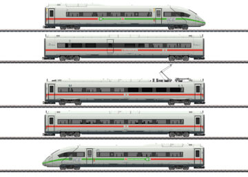 Märklin 39716 <br/>Triebwagenzug ICE 4 Baureihe 412/812 mit grünem Streifen 1