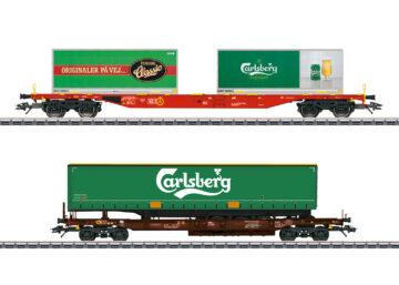 """Märklin 47109 <br/>KLV-Güterwagenset """"Carlsberg und Tuborg"""" 1"""