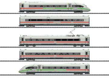 TRIX 25976 <br/>Triebwagenzug ICE 4 Baureihe 412/812 mit grünem Streifen 1