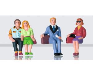 LGB 53006 <br/>Figurenset Reisende sitzend