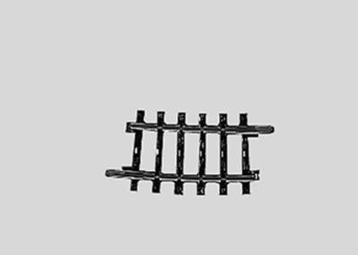 Märklin 2224 <br/>Gleis, gebogen, r 360 mm,7°30'