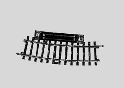 Märklin 2229 <br/>Schalt-Gleis, gebogen, r360 mm,15°