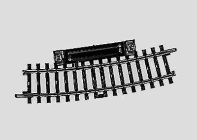 Märklin 2239 <br/>Schalt-Gleis, gebogen, r424,6mm,15°