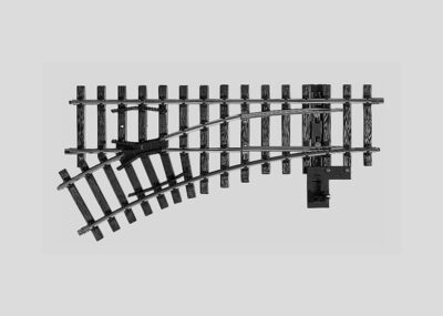 Märklin 5965 <br/>Weiche, mit manueller Bedienung, links, r 600 mm, 30°