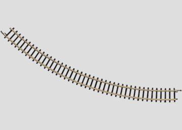 Märklin 8520 <br/>Gleis, gebogen, r 195 mm, 45° 1
