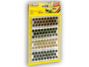 NOCH 7009 <br/>Grasbüschel gedeckte Farben, 104 Stück, 6 mm