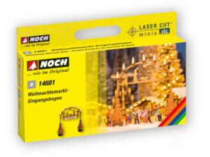 NOCH 14681 <br/>Weihnachtsmarkt-Eingangsbogen