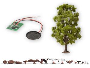 NOCH 21782 <br/>Baum mit Vogelzwitschern 18,5 cm hoch