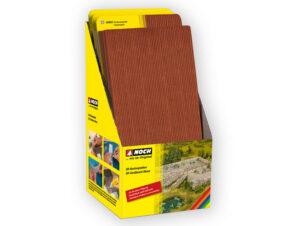 NOCH 56900 <br/>Display, je 10 Stück 56910 bis 56982 = 80 Stück 3D-Kartonplatten N