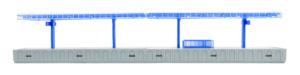 kibri 39549 <br/>Moderner Bahnsteig für Märklin C-Gleis