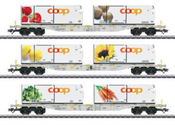 Märklin 47461 <br/>Containerwagen-Set Coop 1