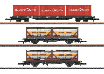 Märklin 82663 <br/>Containertragwagen-Set DB AG 1