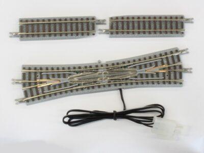 Rokuhan 7297034 <br/>Doppelkreuzungsweiche mit elektromagnetischem Antrieb, R 112,8m, 13°