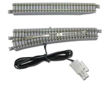 Rokuhan 7297055 <br/>Weiche mit elektromagnetischem Antrieb, links, 110mm, R490, 13ø 1