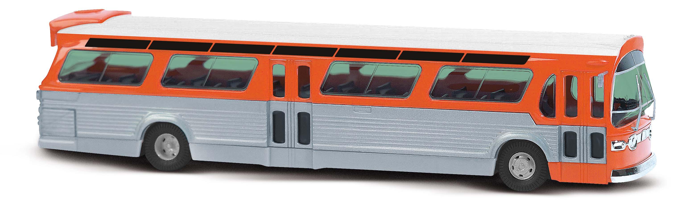 BUSCH 44512 <br/>US Bus Fishbowl ,orange 1