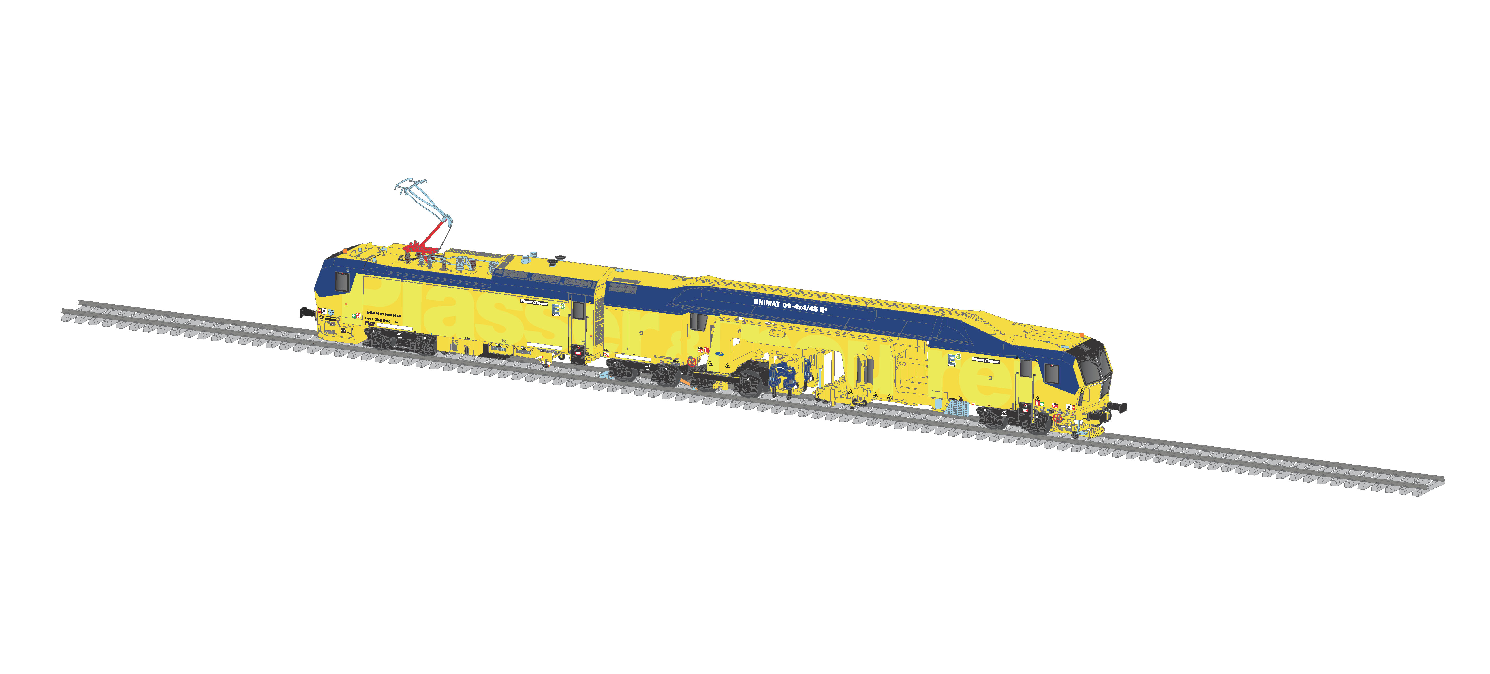 Viessmann 2670 <br/>Unimat 09-4x4/4S E³ Schienenstopfmachine, P & T, Funktionsmodell für Zweileitersysteme