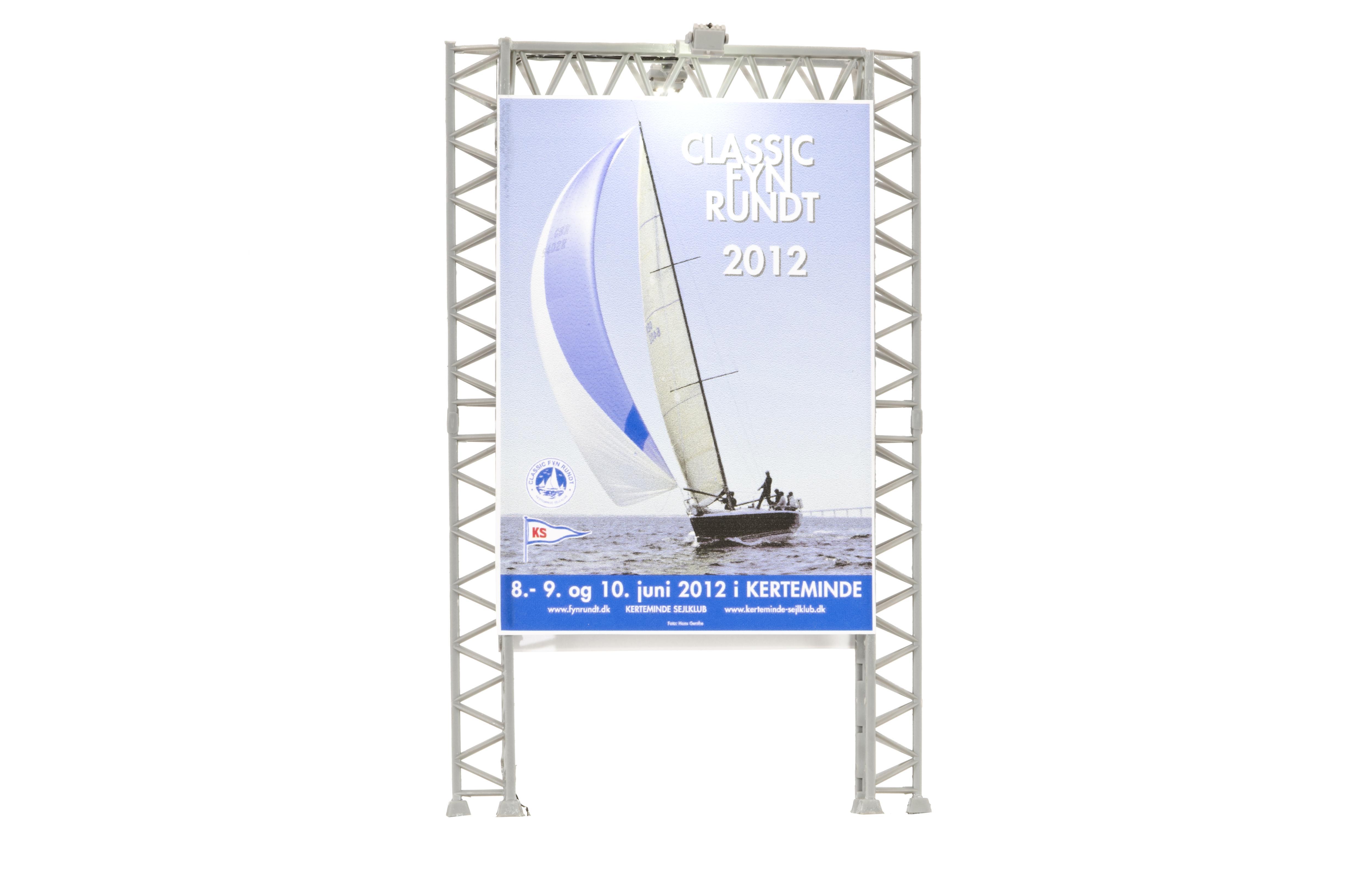 kibri 49809 <br/>Reklamewand mit 2 Flutlichts