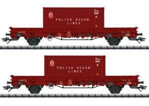 TRIX 24555 <br/>Niederbordwagen-Set
