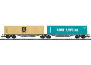 TRIX 24803 <br/>Doppel-Containertragwagen Sggrss 80